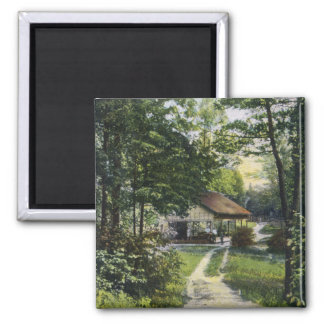 View of Fiddlers Green 2 Inch Square Magnet