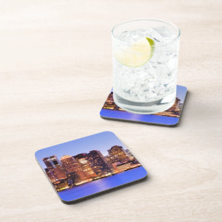 View of Financial District of downtown Boston Beverage Coaster