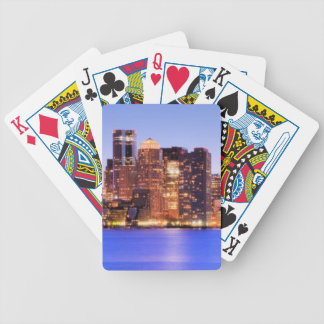 View of Financial District of downtown Boston Bicycle Playing Cards
