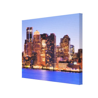 View of Financial District of downtown Boston Stretched Canvas Print