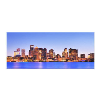 View of Financial District of downtown Boston Canvas Print