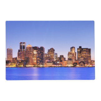 View of Financial District of downtown Boston Placemat