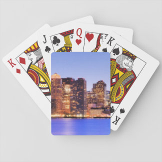 View of Financial District of downtown Boston Playing Cards