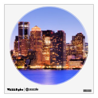 View of Financial District of downtown Boston Room Decal