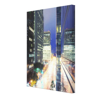 View of financial district office buildings canvas print