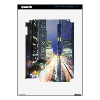 View of financial district office buildings iPad 3 skin