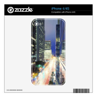 View of financial district office buildings iPhone 4 decal