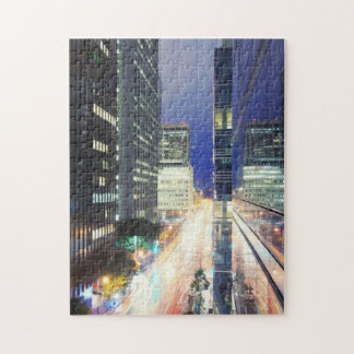 View of financial district office buildings puzzle
