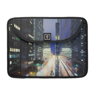 View of financial district office buildings sleeve for MacBooks