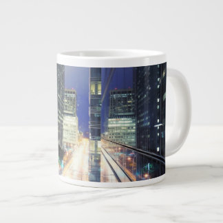 View of financial district office buildings 20 oz large ceramic coffee mug