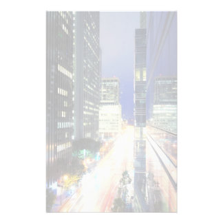 View of financial district office buildings stationery