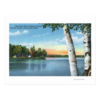 View of Fish Creek State Camping Grounds Postcard