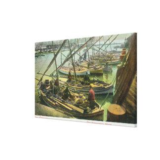 View of Fishermen's Wharf Canvas Print