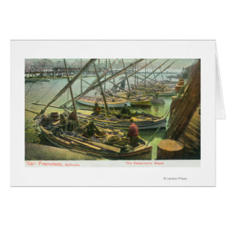 View of Fishermen's Wharf Greeting Card