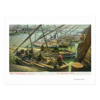 View of Fishermen's Wharf Postcard