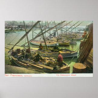 View of Fishermen's Wharf Poster