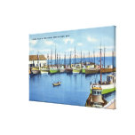 View of Fishing Fleet in the Harbor Canvas Print