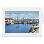 View of Fishing Fleet in the Harbor Card