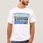 View of Fishing Fleet in the Harbor T-Shirt