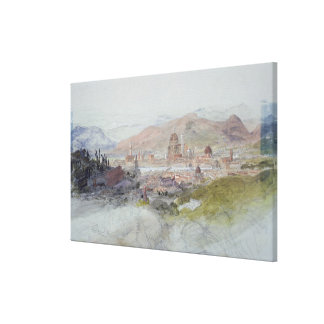 View of Florence, 1837-39 Canvas Print