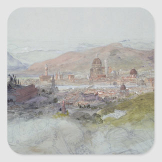 View of Florence, 1837-39 Square Sticker