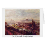 View Of Florence By Oswald Achenbach Card