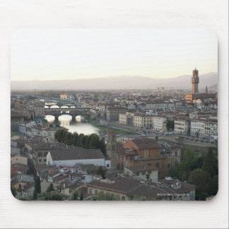 view of Florence from overlook of city showing Mouse Pad