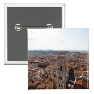View of Florence from the top of the Duomo Santa Buttons