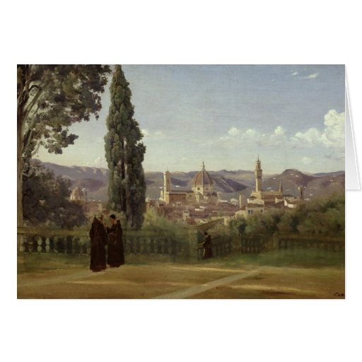 View of Florence Greeting Cards
