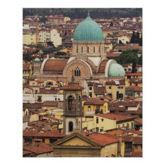 View of Florence, Italy from Piazza Poster