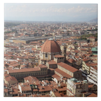 View of Florence, Italy from the top of the Ceramic Tile
