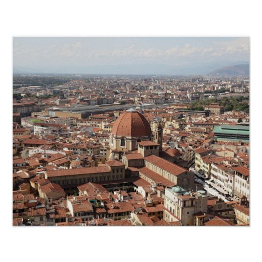 View of Florence, Italy from the top of the Poster
