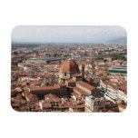 View of Florence, Italy from the top of the Rectangular Magnet