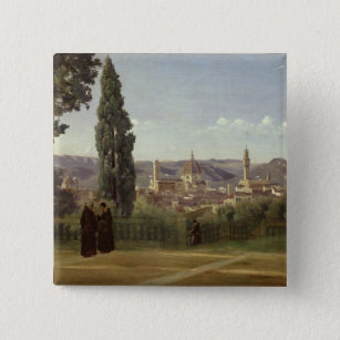 View of Florence Pinback Button