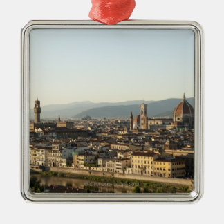 view of florence with Arno River, Duomo, Ponte Metal Ornament