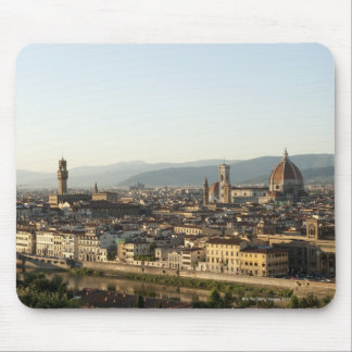 view of florence with Arno River, Duomo, Ponte Mouse Pad