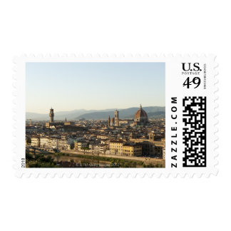 view of florence with Arno River, Duomo, Ponte Postage