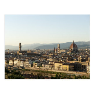 view of florence with Arno River, Duomo, Ponte Postcard