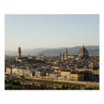 view of florence with Arno River, Duomo, Ponte Print