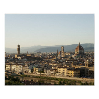 view of florence with Arno River, Duomo, Ponte Poster