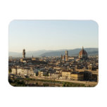 view of florence with Arno River, Duomo, Ponte Magnets