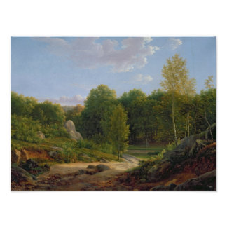 View of Fontainebleau Forest, 1829 Posters