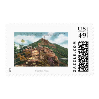 View of Foot Trail to Summit Postage Stamp