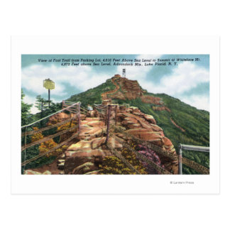 View of Foot Trail to Summit Postcard