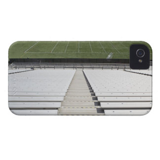 View of football field from empty bleachers iPhone 4 cover