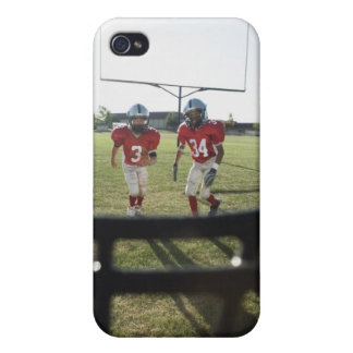 View of football players and field from inside cases for iPhone 4