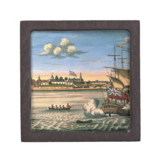 View of Fort George, with the city of New York fro Keepsake Box