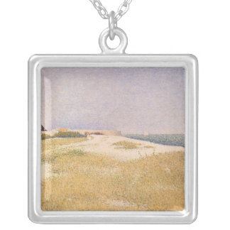 View of Fort Samson, 1885 Silver Plated Necklace