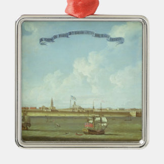View of Fort St. George in the East Indies Metal Ornament