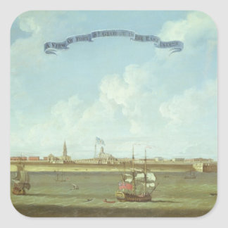 View of Fort St. George in the East Indies Square Sticker